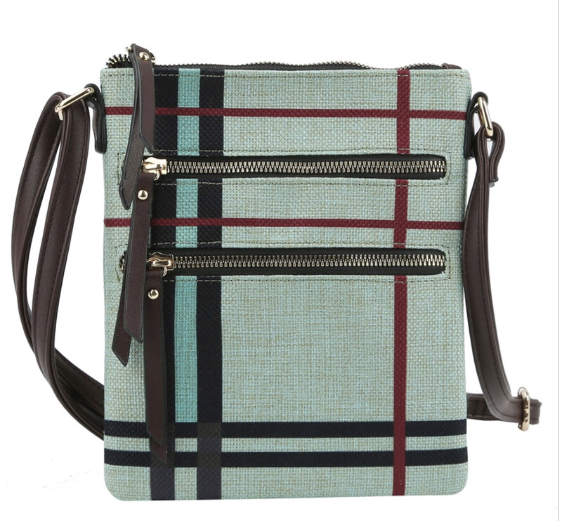 Brit Plaid Crossbody Bag