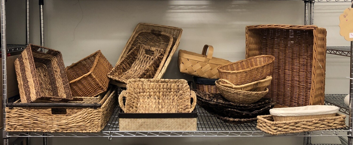 19 Assorted Size And Shape Baskets