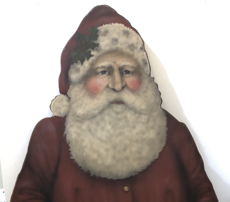 5' Tall Santa With Blackboard