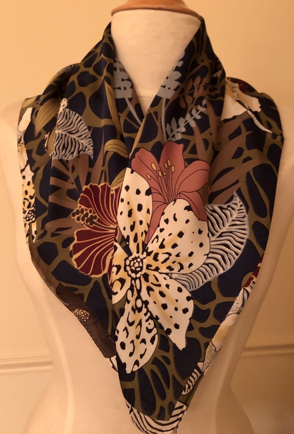 Wild Flowers Square Scarf