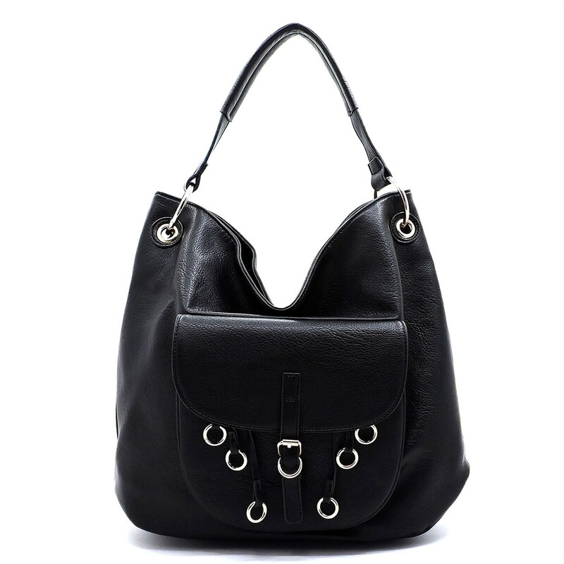 Buckle Pouch Ring Hobo Bag