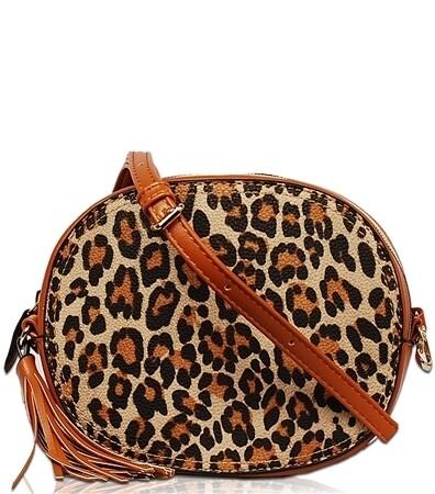 Snakeskin Tassel Zip Top Bag Orange