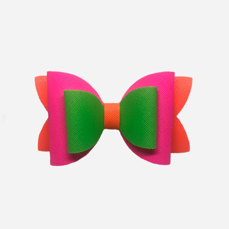 Neon Multicoloured Bow