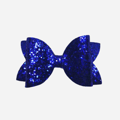 Royal Blue Glitter Bow