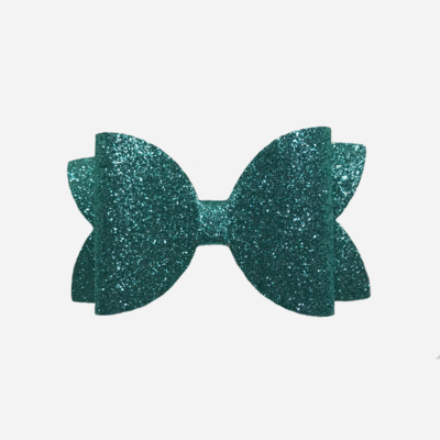 Aqua Glitter Bow