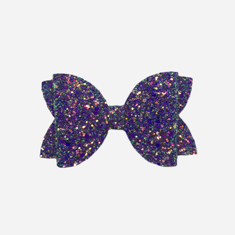 Pink/Purple Chunky Glitter Bow