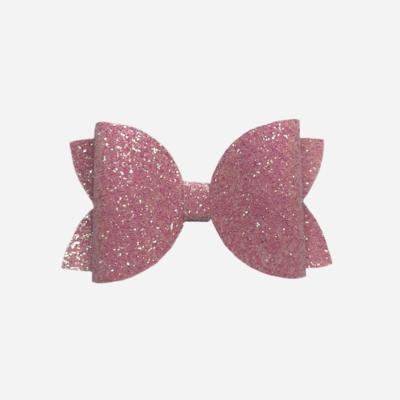 Pink Fine Glitter Bow