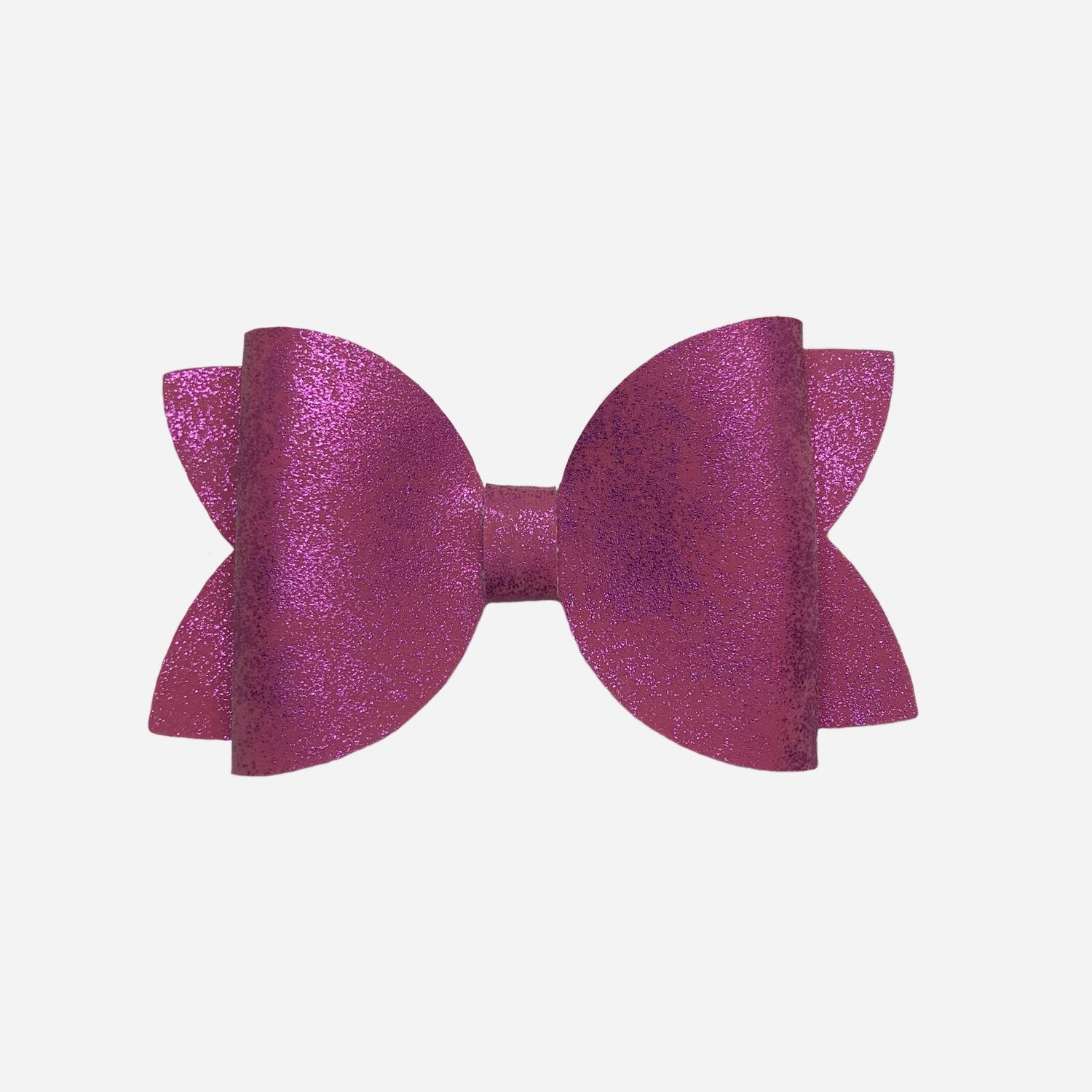 Pink Smooth Metallic Bow