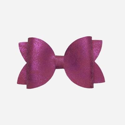 Pink Smooth Metallic Bow