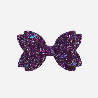 Purple Gemstone Bow
