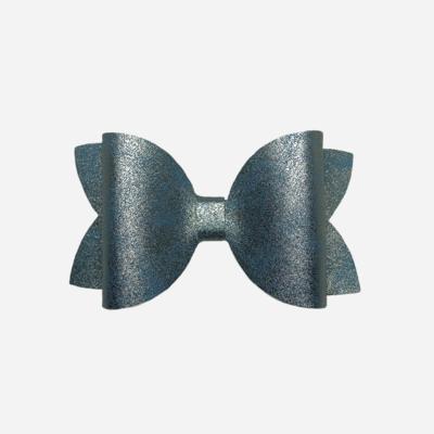 Blue Smooth Metallic Bow