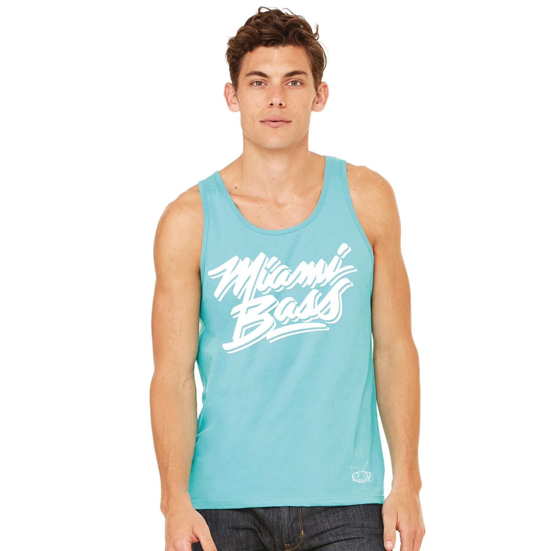 Miami Bass Mens Teal Tank w/ White Logo