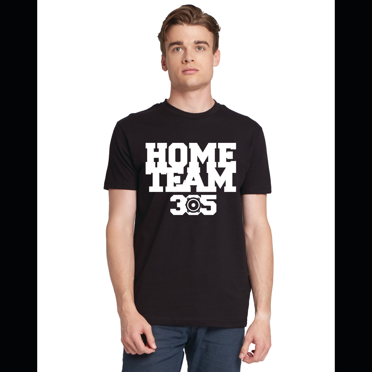 HOME TEAM BLACK TEE W/ WHITE LOGO