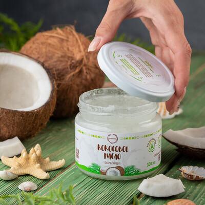 Масло кокосовое натуральное 100% (extra virgin)  300 мл COCO DAY
