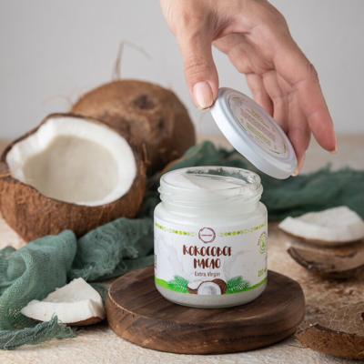 Масло кокосовое натуральное 100% (extra virgin)  200 мл COCO DAY