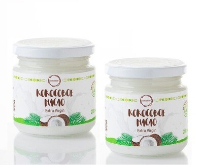 2 шт Масло кокосовое натуральное 100% (extra virgin)  200 мл COCO DAY