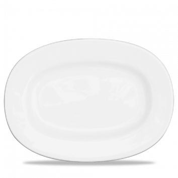 RIMMED OVAL DISH