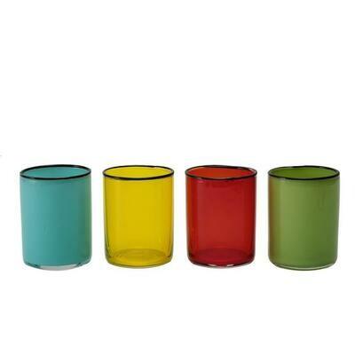 Tirolix - Calici Acqua 40 cl Colori Assortiti Sleek