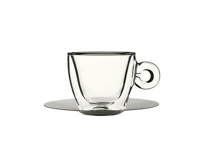 Bormioli Luigi - Tazze Cappuccino Con Piatto 16,5 cl Thermic Glass