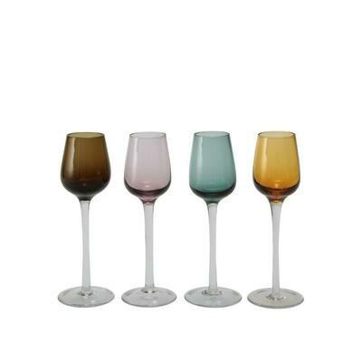 Tirolix - Calici Liquore 9 cl Colori Assortiti Sleek