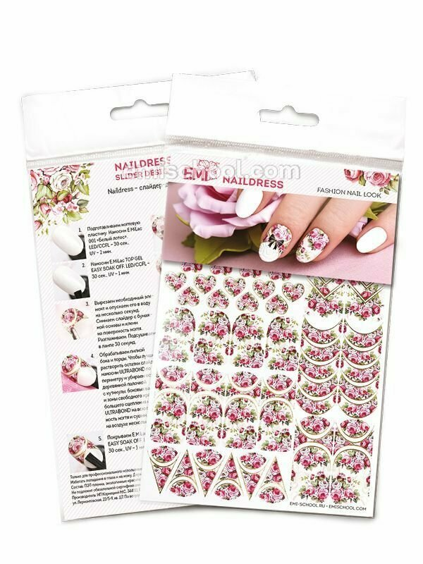 Naildress Slider Design Victorian Roses
