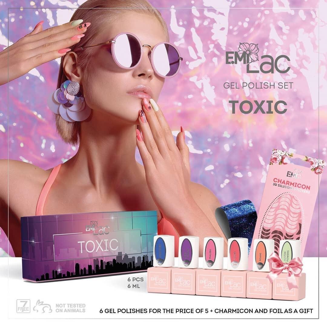 E.MiLac Set Toxic, 6 ml.