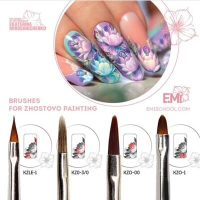 Set of brushes for Zhostovo painting 4