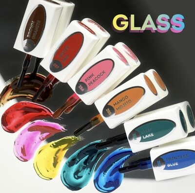 E.MiLac GLASS Set of 6 and FREE 5D Charmicon nailart sticker!