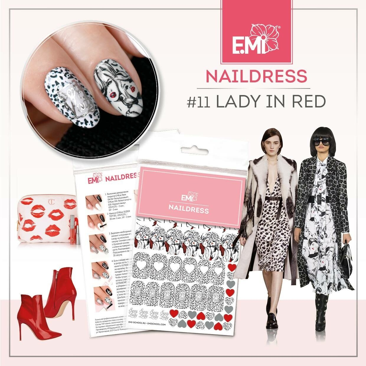 Naildress Slider Design #11 Lady in Red