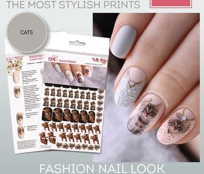 Naildress Slider Design Cats