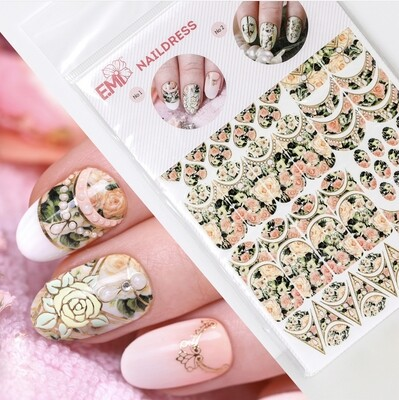 Naildress Slider Design Bridal Roses