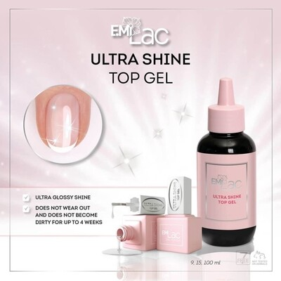 E.MiLac Ultra Shine Top Gel, 9/15/100 ml.