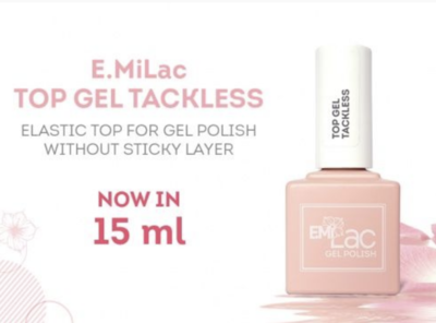 E.MiLac Top gel Tackless 9/15/30/100 ml.
