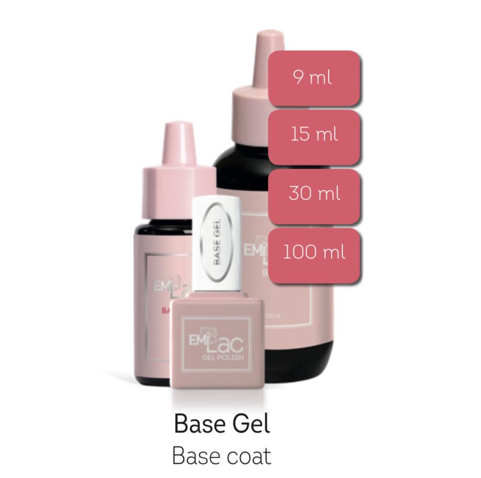 E.MiLac Base gel, 9 /15/30/100 ml. Beste hechting afweekbaar base gel