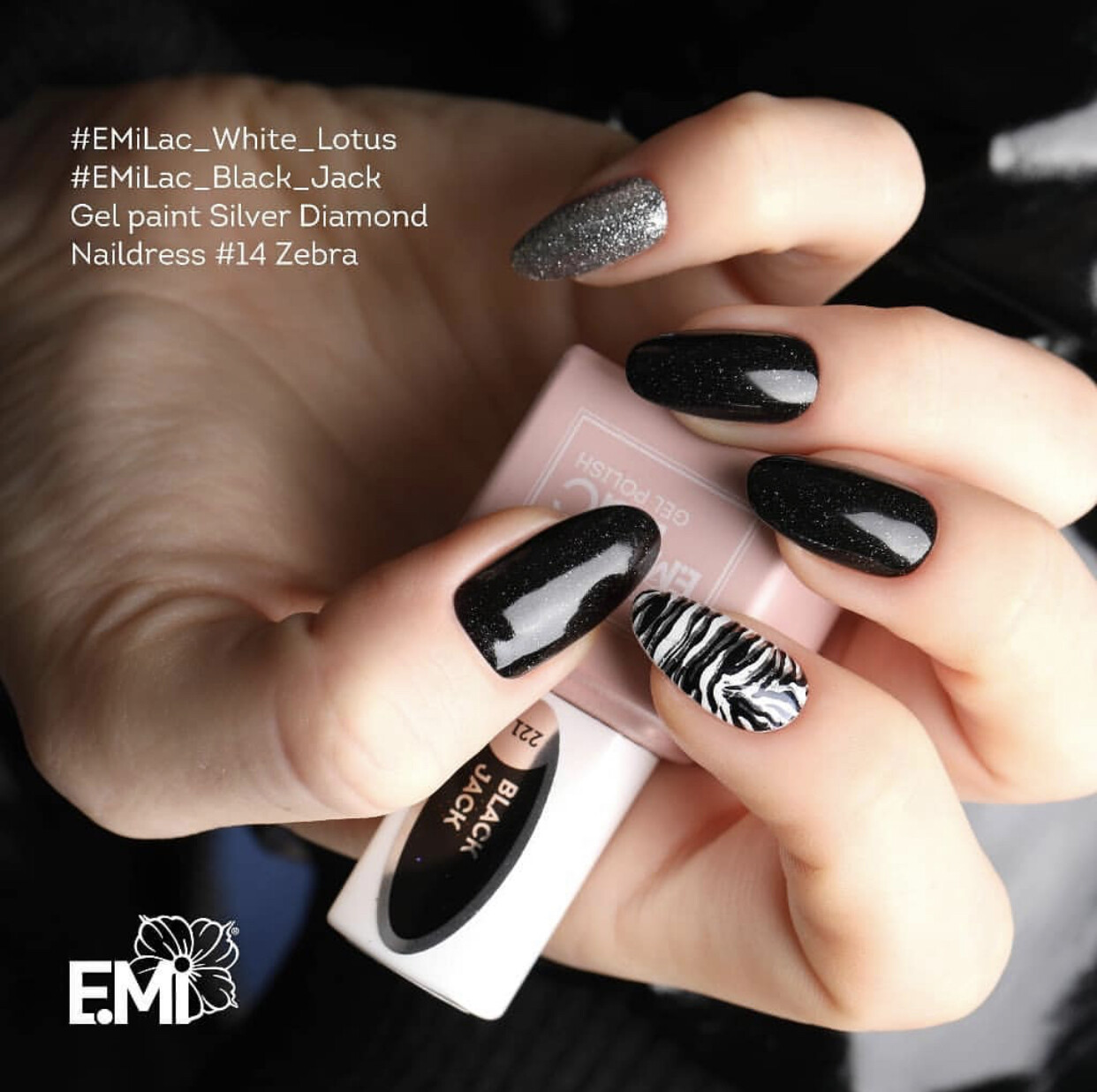 E.MiLac HP Black Jack #221, 9 ml.