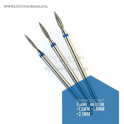 Diamond Flame bit - Medium grid- cuticle and side walls
