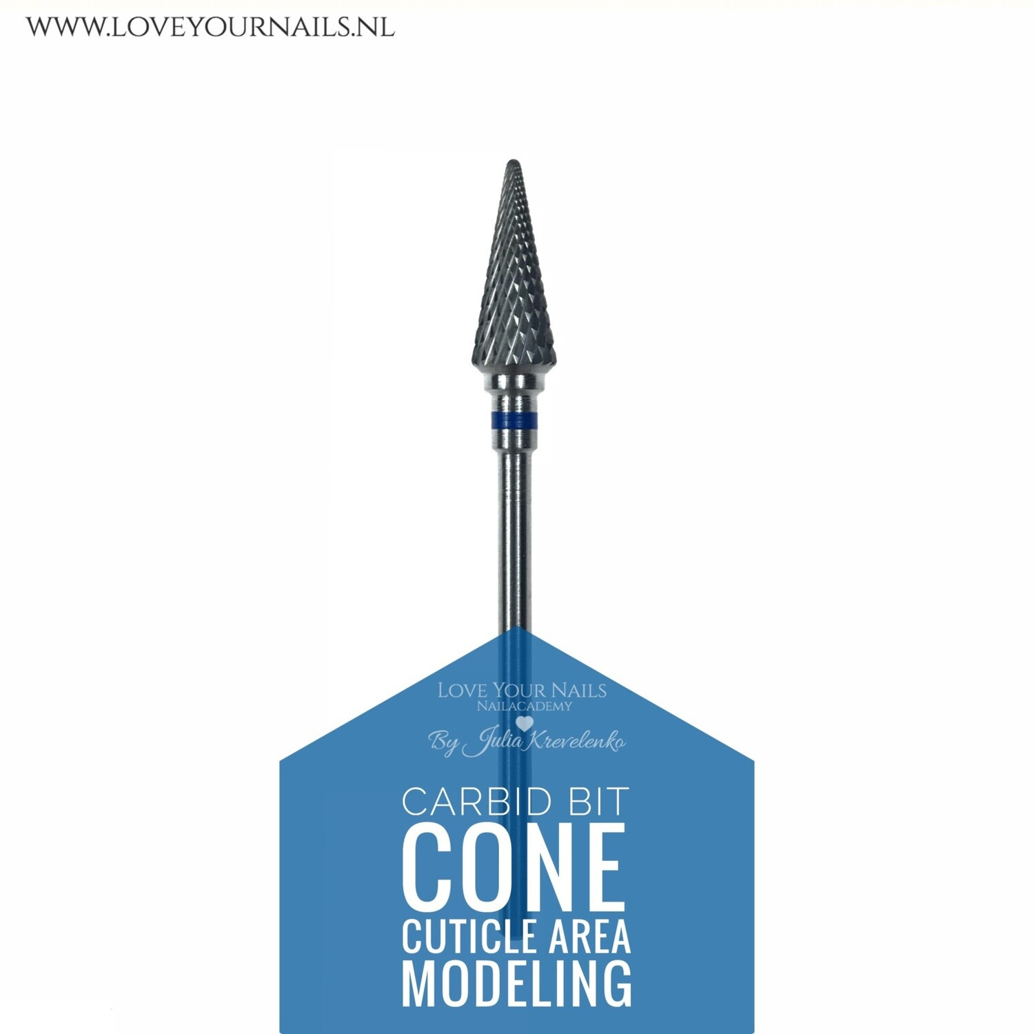 Carbid cone for c-curve and cuticle area - medium