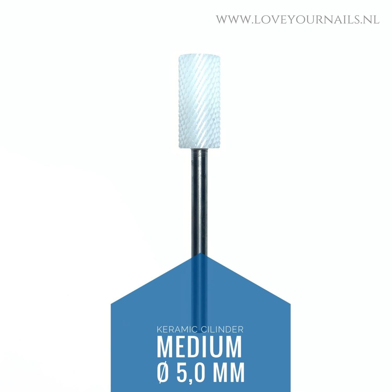 Ceramic cilinder bit  - medium- for left handed nail tech