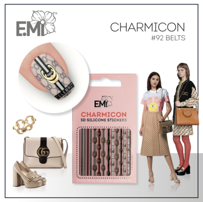 Charmicon Silicone Stickers #92 Belts