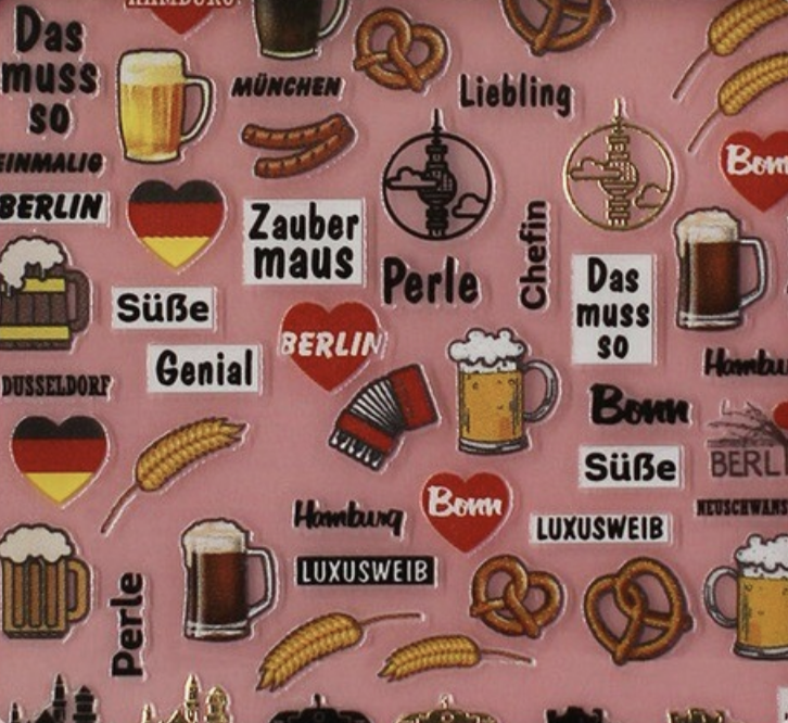 Charmicon Silicone Stickers Germany 1
