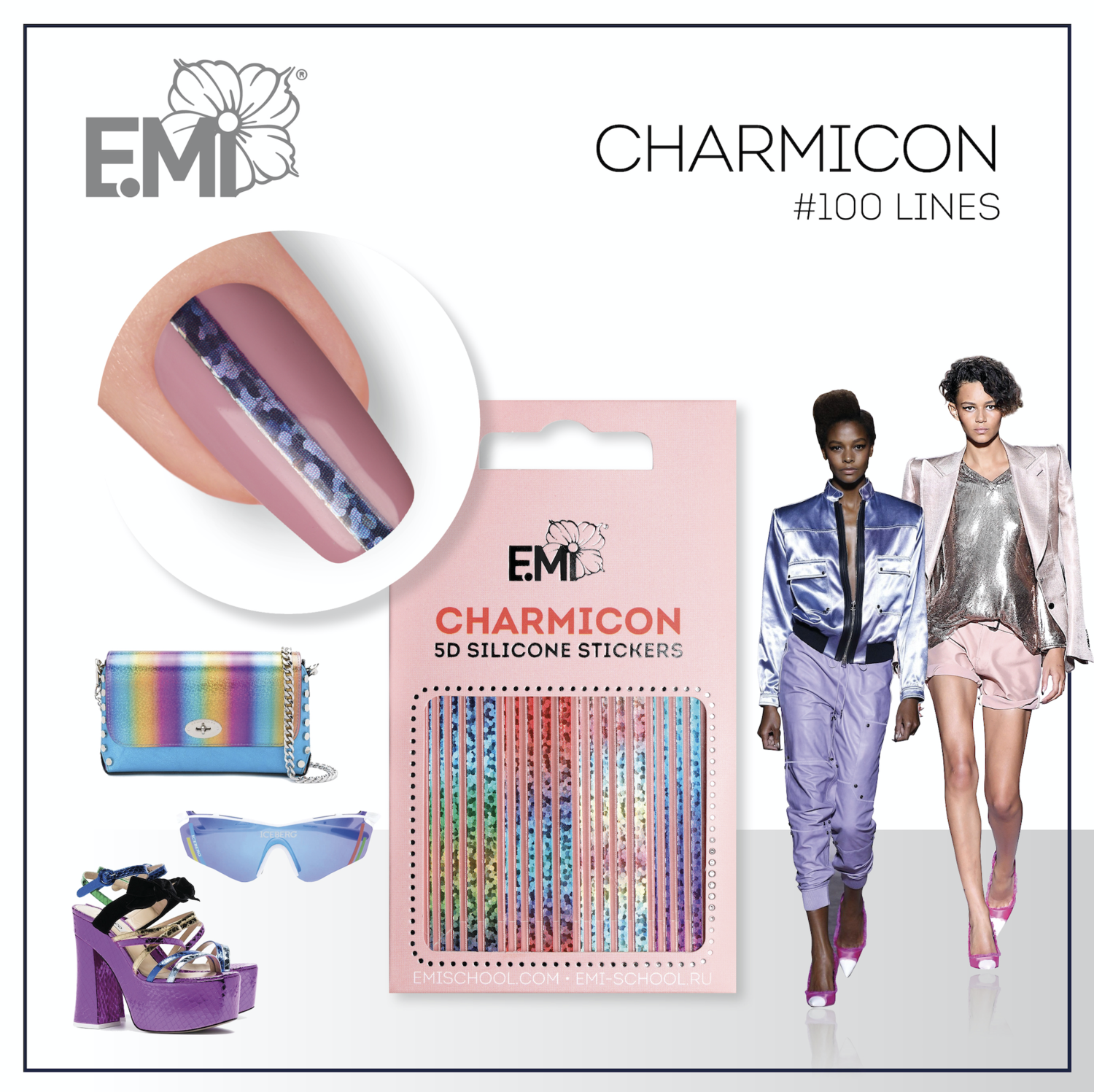 Charmicon Silicone Stickers #100 Lines