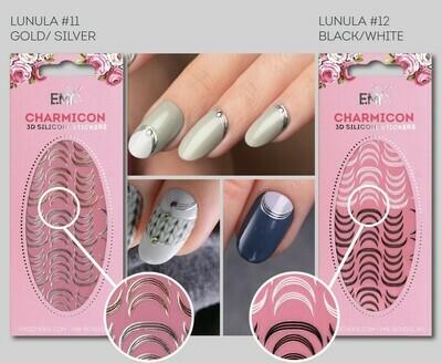 Charmicon Silicone Stickers Lunula #11 Gold/Silver