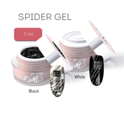 Spider Gel, SET of two: black & white 5 ml.