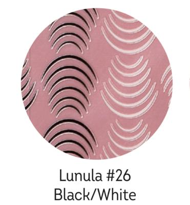 Charmicon XL Silicone Stickers Lunula #26 Black/White