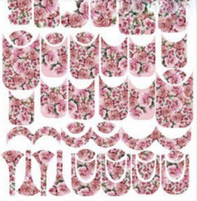 Naildress Slider Design Pink Roses