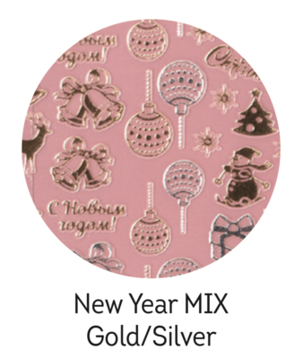 Charmicon Silicone Stickers New Year MIX Gold/Silver
