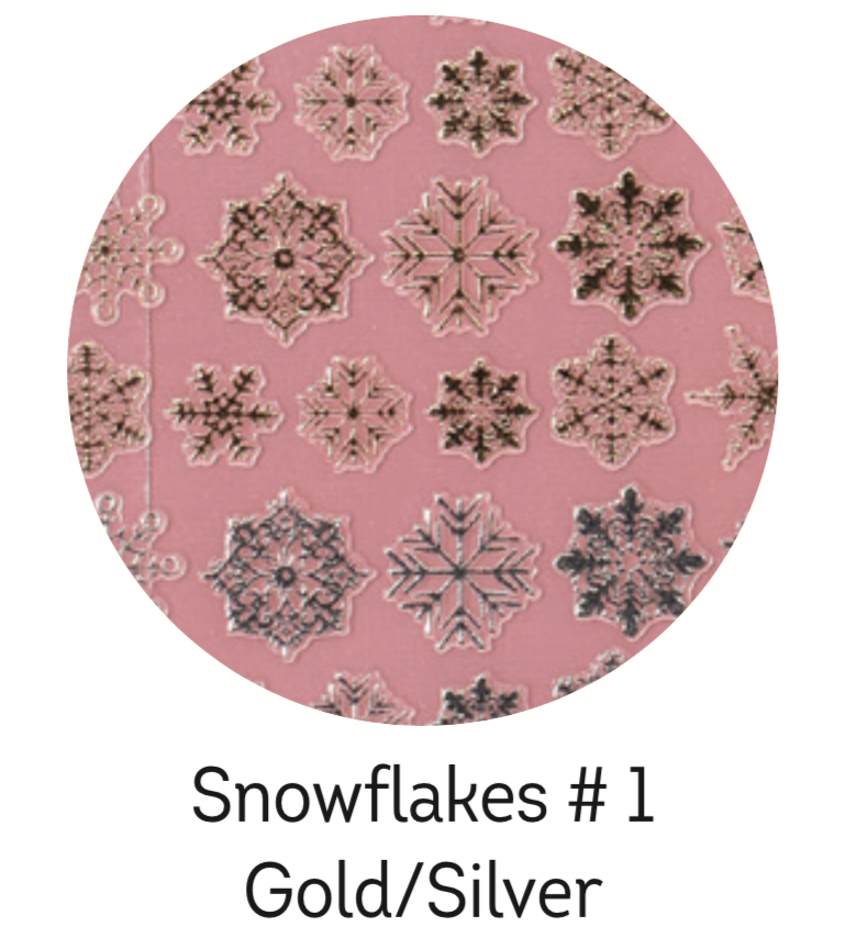 Charmicon Silicone Snowflakes #1 Gold/Silver