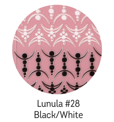Charmicon Silicone Stickers Lunula #28 Black/White