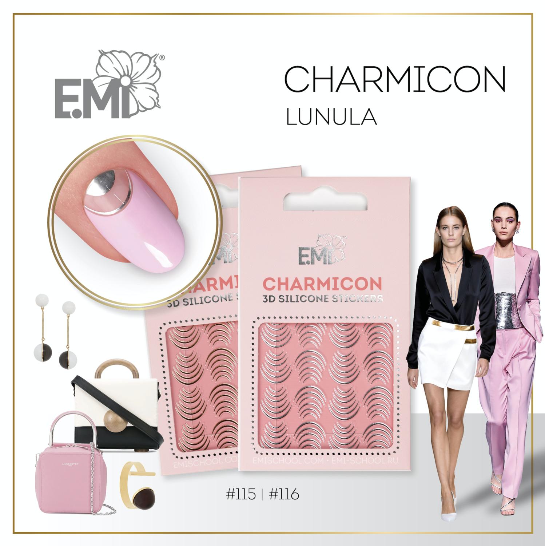 Charmicon Silicone Stickers #115 Lunula Gold