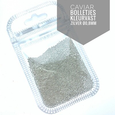Silver Caviar metal beads 0.8 mm